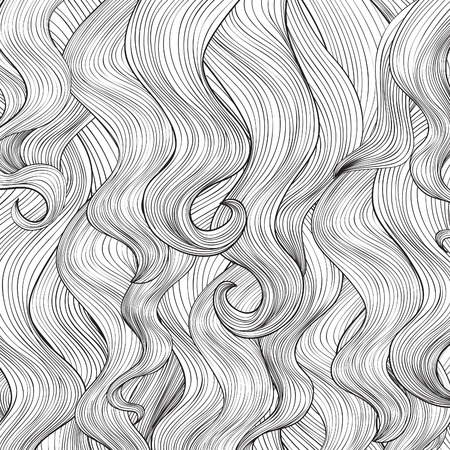 wavy hair: Hair background Illustration