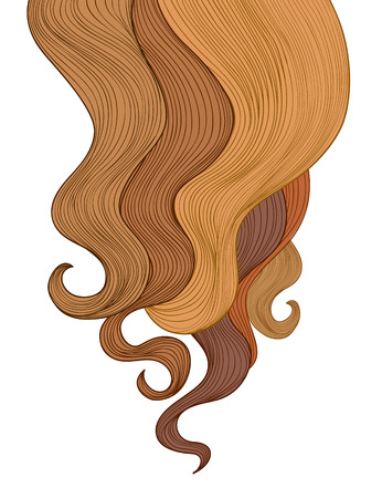 brown hair: Hair background. Beauty salon poster.