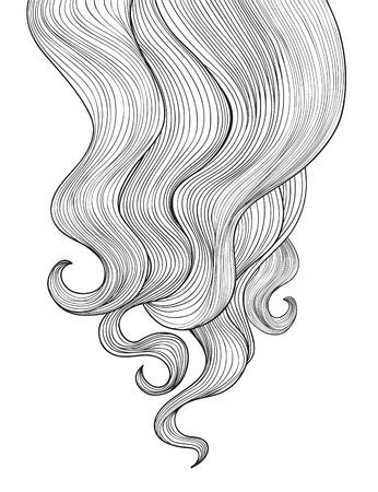 茶髪: 髪の背景  イラスト・ベクター素材