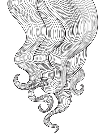 hair cut: Hair background Illustration