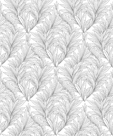tiffany: Floral seamless background. Decorative leave pattern. Abstract ornamental leaf texture. Illustration