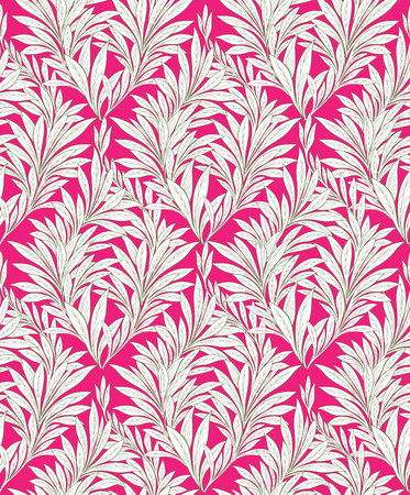 japanese motif: Abstract ornamental leaf texture. Floral seamless background. Pop-art leave pattern.