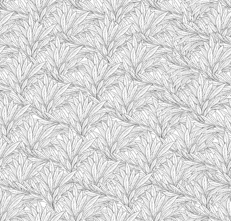japanese motif: Abstract ornamental leaf texture. Floral seamless background. Decorative leave pattern. Illustration