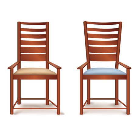outdoor dining: Chair isolated Illustration