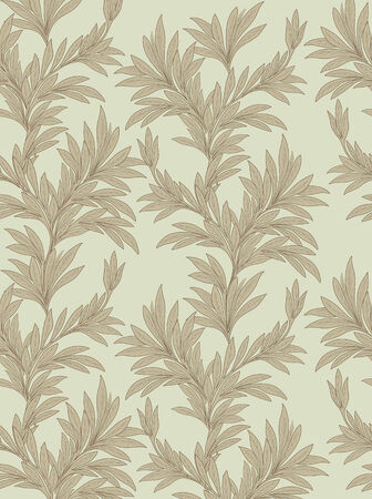 japanese motif: Floral texture. Leaves pattern. Leaf seamless backgound. Illustration