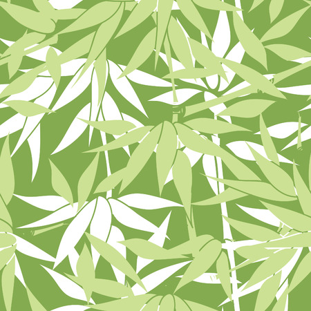 asian gardening: Floral seamless background. Bamboo leaf pattern. Floral seamless texture with leaves.