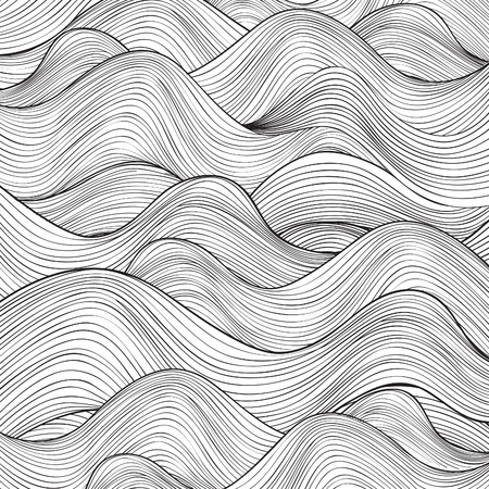 wave design: Wave pattern. Geometric texture. Abstract background.