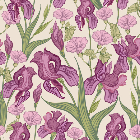 nature flowers: Floral seamless background. Flower pattern.