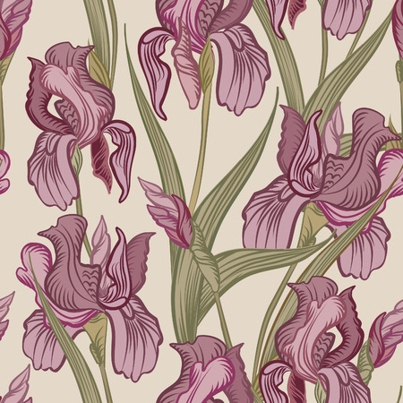 Floral seamless background. Flower pattern. Vector