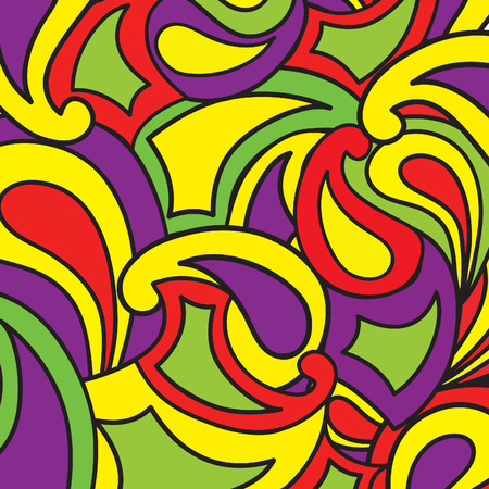 Abstract wavy background in 1960s  style. Geometric funky pattern Ilustração