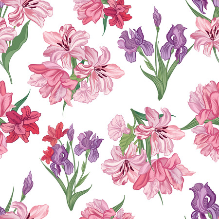 background decorative: Floral seamless background. Decorative flower pattern. Floral seamless texture with flowers.