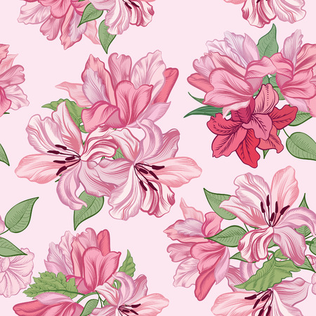 Floral seamless background Flower pattern. Vector