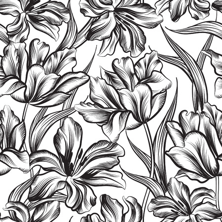 seamless pattern: Floral seamless pattern. Flower background. Floral seamless texture with flowers.