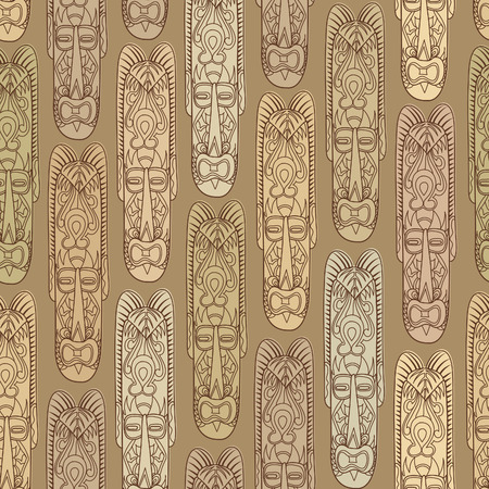 Abstract vintage ethnic pattern. Mask seamless background. Vector