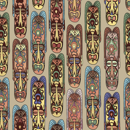 Abstract vintage ethnic pattern. Mask seamless background.