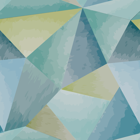 uneven: Abstract seamless pattern. Geometric triangle mosaic watercolor 3D background.