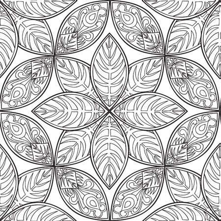 abstract floral: Abstract floral ethnic pattern