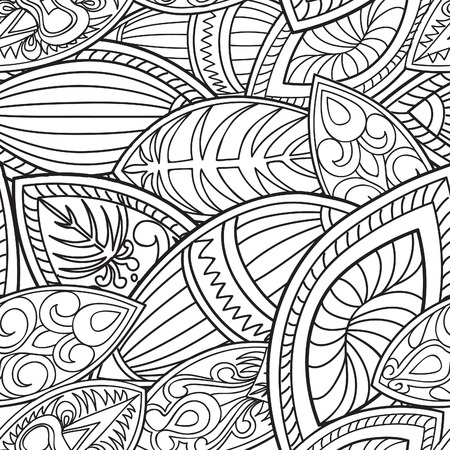 Abstract floral ethnic pattern