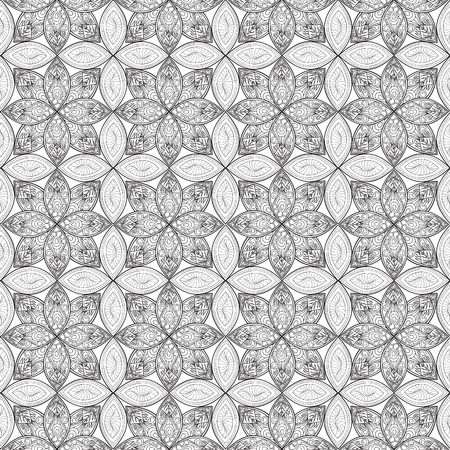abstract floral: Abstract floral geometric pattern.