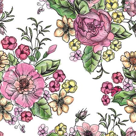 bouquet fleurs: Bouquet de fleurs Illustration