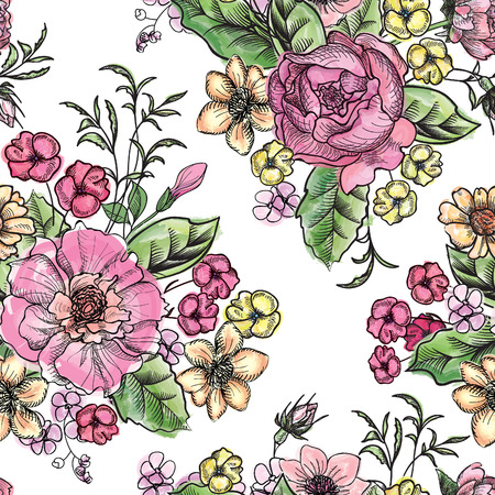 ramo de flores: Bouquet de flores  Vectores