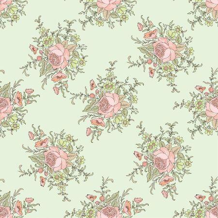 patrones de flores: Floral seamless pattern