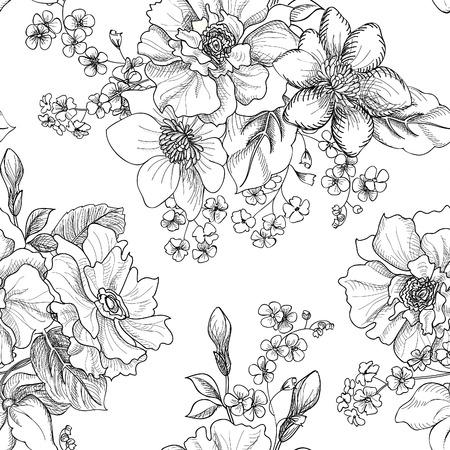 꽃 원활한 패턴 스톡 콘텐츠 - 40828420