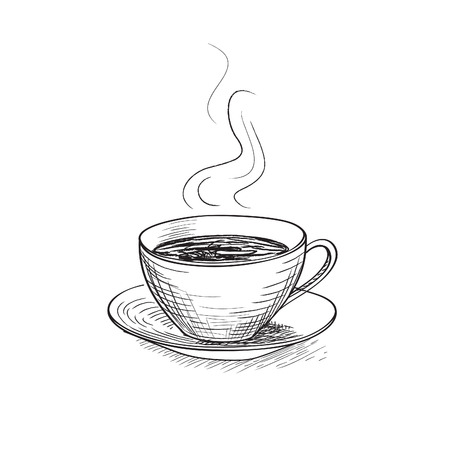 teatime: Cup of coffee illustration