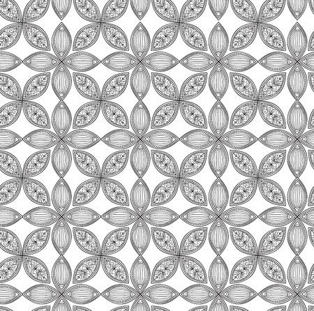 pluma blanca: Patrón geométrico floral abstracto. Vectores