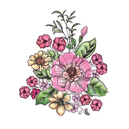 flower bouquet: Flower bouquet Stock Illustratie