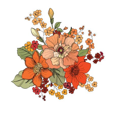 clavel: Bouquet de flores  Vectores
