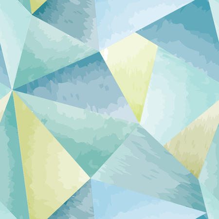 moder: Abstract seamless pattern. Geometric triangle mosaic watercolor 3D background.