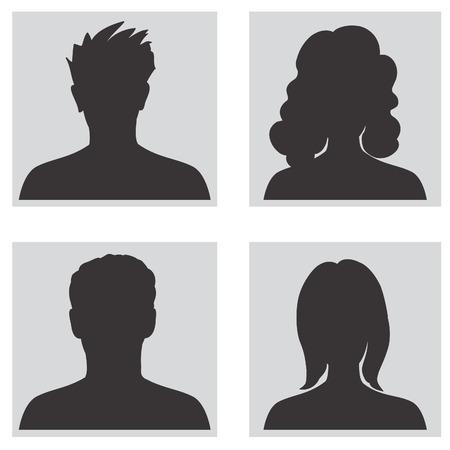 visage profil: Collection Avatar, le profil de personnes silhouettes