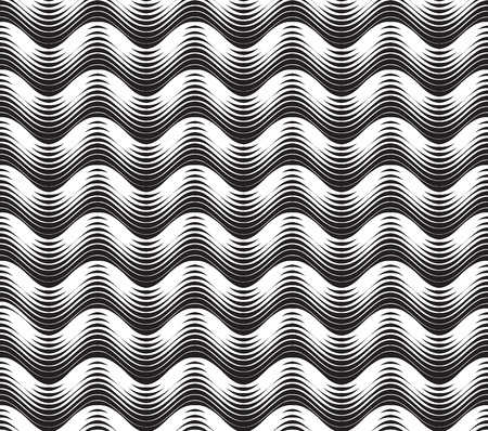 water wave: Abstract White line striped seamless pattern. Wave pattern. Geometric texture. Abstract background. Illustration