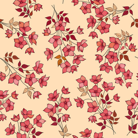 spring flower: Floral seamless pattern. Abstract flower background. Floral seamless texture with flowers. Flourish spring texture.