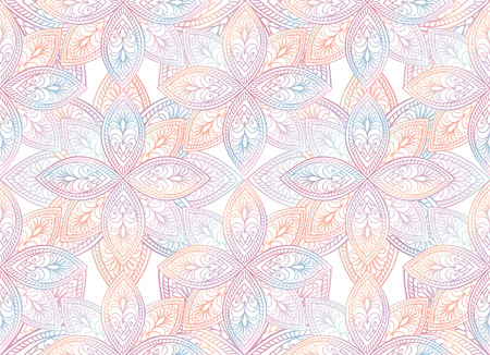 Abstract  textured floral seamless pattern. Geometric oriental ornament. Festive background.