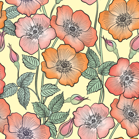 flower rose: Floral seamless pattern. Flower rose background. Floral seamless texture with flowers.