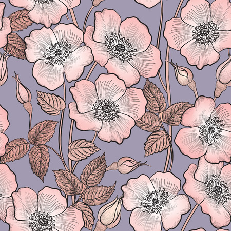 retro seamless pattern: Floral seamless pattern. Flower background. Floral seamless texture with flowers.