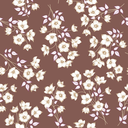 astract: Floral seamless pattern. Astract flower background. Floral seamless texture with flowers.