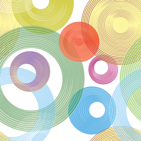 bubble background: Abastract geometric seamless pattern. Bubble ornamental background. Circles.