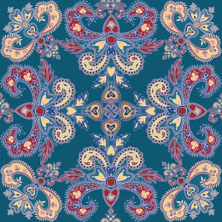 blumen verzierung: Abstract floral nahtlose Muster. Geometrische floralen Ornament Textur. Oriental flower ethnischen Hintergrund.