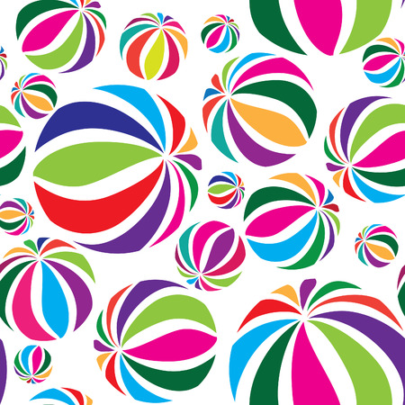 beach game: Abstract geometric seamless pattern with beach game balls