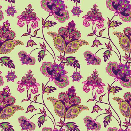Abstract floral ethnische Muster. Geometrische Blumenverzierung. Oriental nahtlose Hintergrund. Blume nahtlose Muster mit orientalischen Ornament im Vintage-Stil