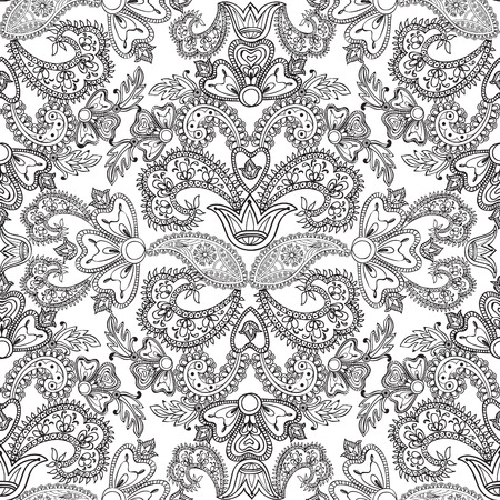 oriental flower: Abstract floral pattern in vintage oriental style. Geometric floral ornament texture. Oriental flower ethnic background.