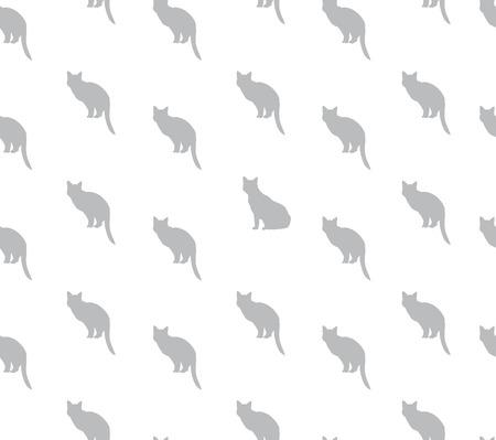 pareja comiendo: Gato sin patrón. Animales vectores de fondo. Vectores
