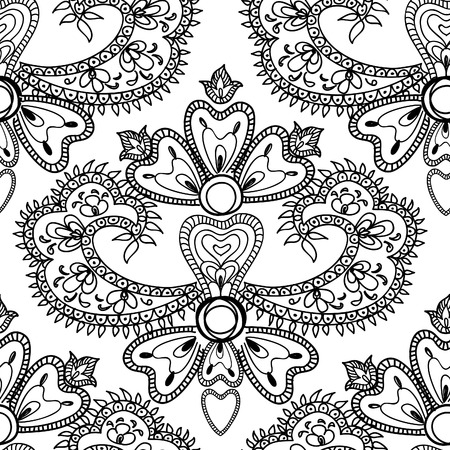 chinaware: Abstract floral seamless vector background. Beautiful flower patterns. Chinese porcelain ornament