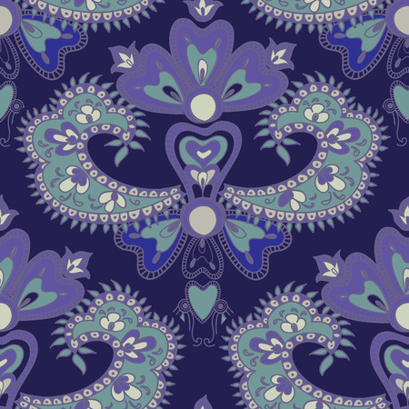 chinaware: Abstract floral pattern in vintage oriental style. Geometric floral ornament texture. Oriental flower ethnic background.