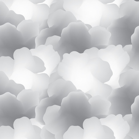 cloudy day: Abstract seamless pattern with clouds. Cloudy sky tiled background