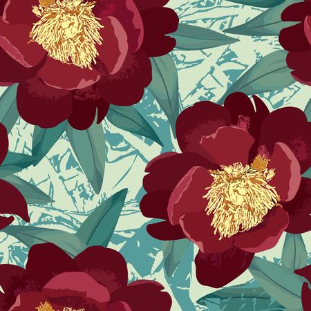 jardines flores: Modelo incons�til floral. Fondo de la flor. Textura incons�til floral con flores.