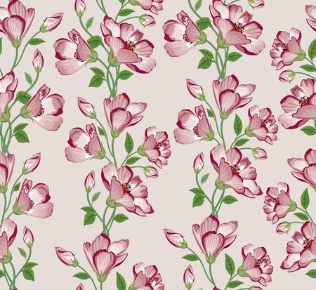muster: Floral seamless pattern. Flower background. Floral nahtlose Textur mit Blumen.